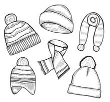 Set Of Woolen Winter Clothes