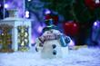 Ozdoba świąteczna, bałwanek w śniegu