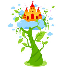 Magic Beanstalk And Castle In ...