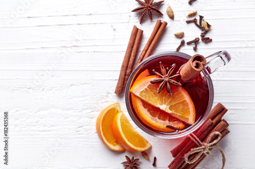 Poster Thee Hot mulled wine