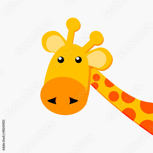 Cadres-photo bureau Echelle de hauteur vector illustration of giraffe on a white background