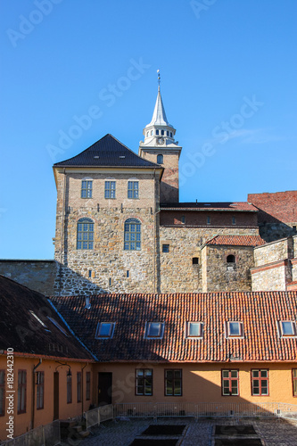Akershus Fortress or Akershus Castle is a medieval castle that was built to prot Poster