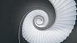 Leinwanddruck Bild - Wendeltreppe -Blick von oben nach unten-