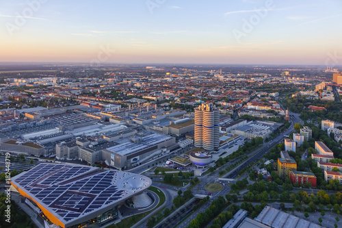 Photo  Look at Munich and the BMW Headquarters