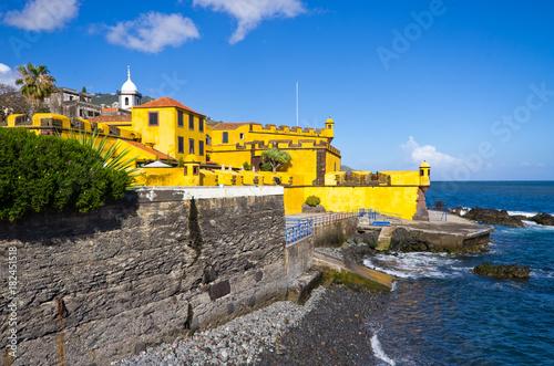 Yellow fort in Funchal, Madeira Fototapeta