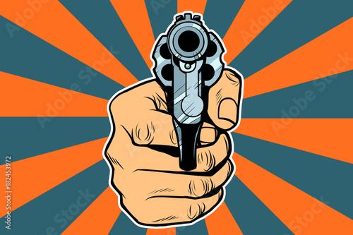 Fotografie, Obraz revolver in hand