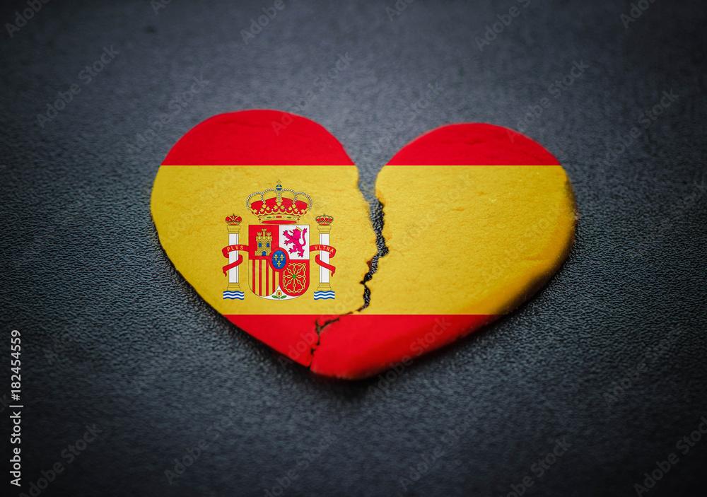 Photo Art Print Dissolution Of Spain Symbol Of Broken Heart