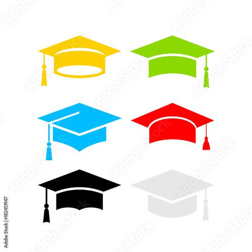 Papel de parede  Six color graduation hats