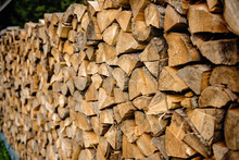 Pile Of Wood Ready For Winter ...