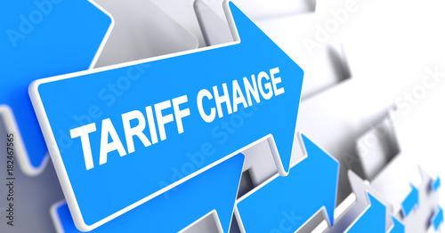 Fotografía  Tariff Change - Text on the Blue Cursor. 3D.