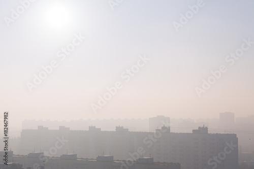 Papiers peints Paris City at misty sunrise