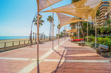Promenade In Estepona, Andalusia, Spain