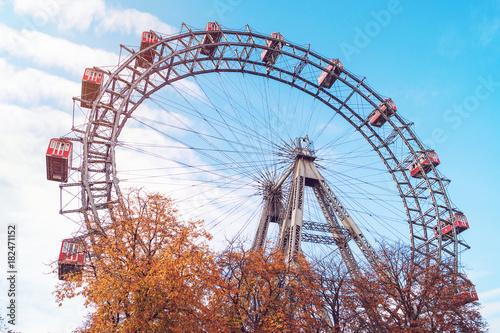 Vienna Giant Ferris Wheel in Prater park in Austria, Vienna