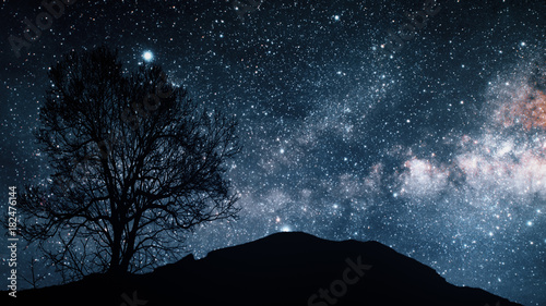 Foto op Canvas UFO A time lapse of a starry night 3d illustration. Elements of this image furnished by NASA