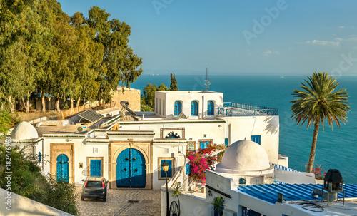 Traditional houses in Sidi Bou Said, Tunisia