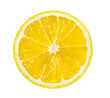 canvas print picture lemon slice, saved with clipping path