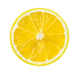 lemon slice, saved with clipping path