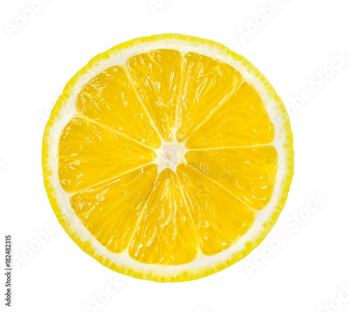 Fotografie, Obraz  lemon slice, saved with clipping path