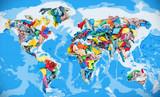 Fototapeta Do akwarium - Clothing in the form of a world map
