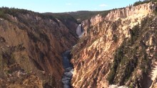 Pan Of Lower Grand Canyon Of Yellowstone