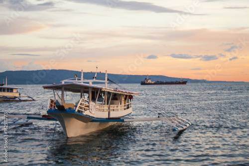 Passenger boat standing-by at Sta. Ana Wharf in Davao City, Philippines