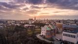 Fototapeta Miasto - Miasto Lublin z lotu ptaka