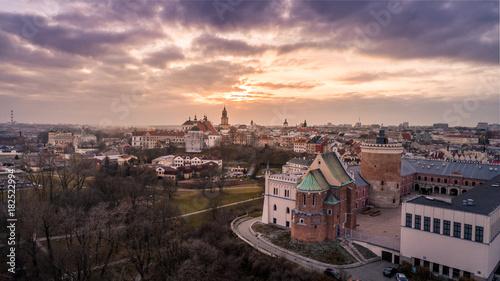 Miasto Lublin z lotu ptaka - fototapety na wymiar