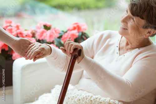 Fotografie, Obraz  Smiling old woman