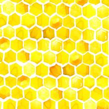 Honeycomb Watercolor Illustrat...