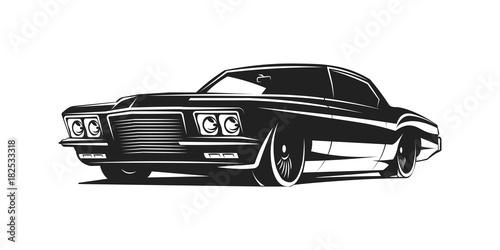 Fototapeta Muscle car vector poster obraz