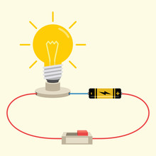 Simple Electricity Circuit Vec...