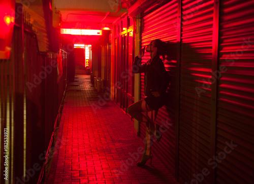 Obraz na płótnie red-light street