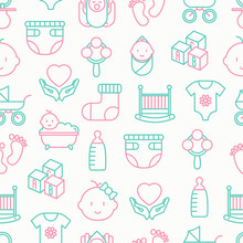 Baby Care Seamless Pattern Wit...