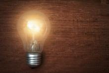 Glowing Light Bulb Turned On