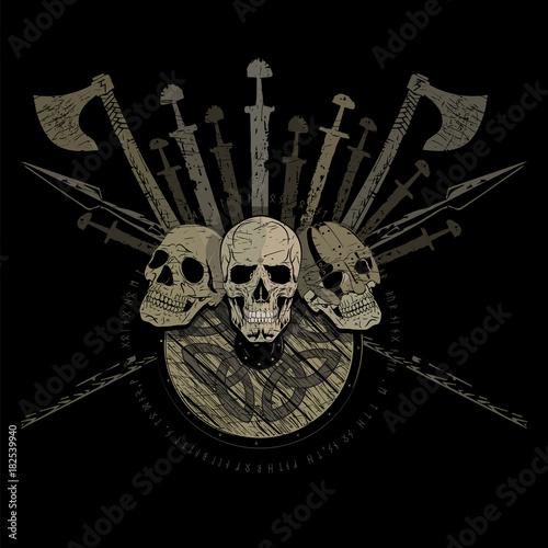 Fotomural Ragnarok Viking design