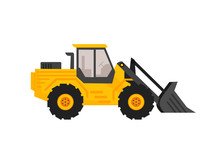 End Loader Vehicle Flat Cartoo...