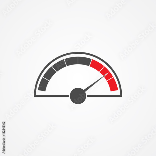 Speedometer vector icon - Buy this stock vector and explore