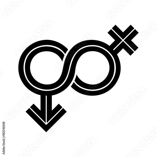 Gender Fluid Black Inline Icon The Icon Incorporates The Symbol Of