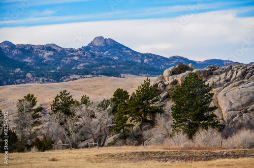 Foto op Canvas Zuid Afrika A Wyoming Country Landscape 1