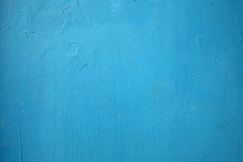 Old Blue Wall Background Or Texture