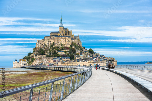 Fotografie, Obraz  Mont-Saint-Michel, an island with the famous abbey, Normandy, France