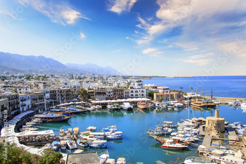 Wall Murals Northern Europe Beautiful view of the Kyrenia Bay in Kyrenia (Girne), North Cyprus