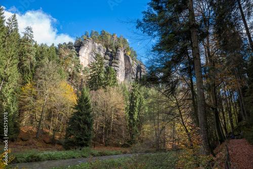Foto op Aluminium Grijze traf. Blicke über die Sächsische Schweiz