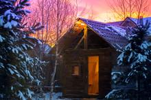 Bathhouse In Winter