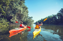 A Canoe Trip On The River In T...