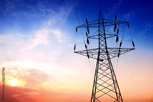 Photo  High voltage post or High voltage tower