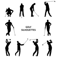 Golf Different Silhouettes On ...