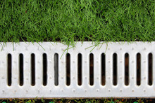 Concrete Water Drain Or Ditch ...