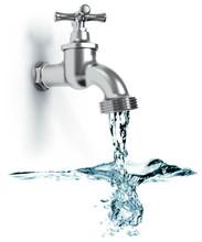 Wasserhahn Mit Fließend Wasse...