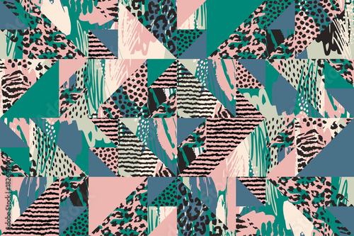 obraz PCV Abstract seamless pattern with animal print.